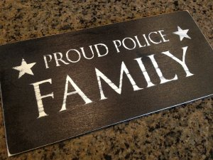 proud police family